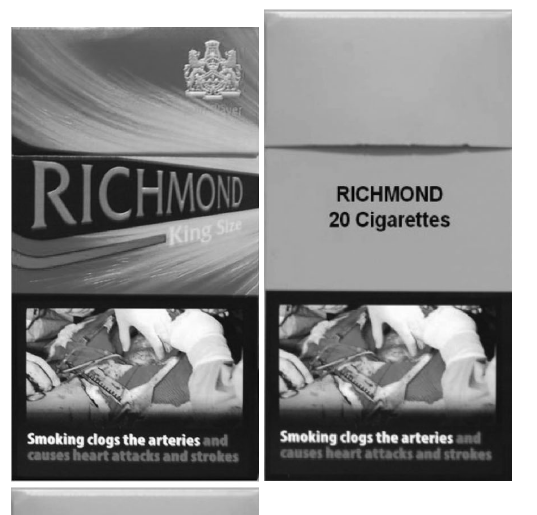 Branded and plain packaging